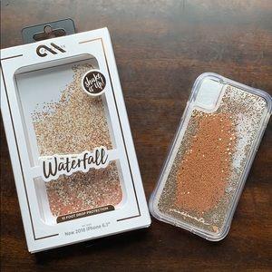 Casemate rose gold glitter iPhone XR case
